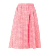 GILES Screw pois jacquard pleated skirt