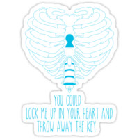 Bring Me The Horizon Rib Heart Blue