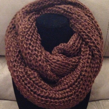 QUICK SALE: Reg. 10.00 BIG approx 12x24 Thick Solid Crochet Infinity Scarf