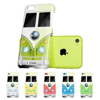 ESR Fancy Series Hard Clear Back Cover with Cute Patterns Snap on Case for iPhone 5C (Mini Bus)