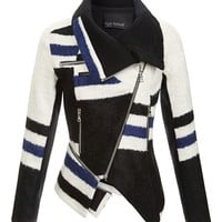 Yigal Azrouel Elongated Stripe Jacket by Yigal Azrouël - Moda Operandi
