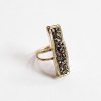 Brass Pyrite Box Ring