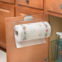 Flower Over the Cabinet-Door Paper Towel Holder in Brushed Nickel
