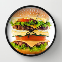Cheeseburger YUM Wall Clock by All Is One