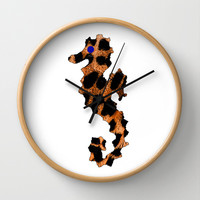 SEA LEOPARD Wall Clock by catspaws