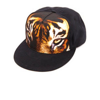 TIGER EYES PRINTED BASEBALL CAP