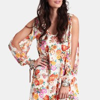 Tropical Sunrise Printed Dress