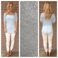 Baby Blue Ruched Tunic