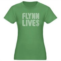 Flynn Lives Tron Tron legacy Women's Fitted T-Shirt dark by CafePress