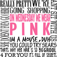 Mean Girls Quotes Art Print by TurquoisedHearts