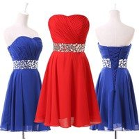 Sexy Women Formal Homecoming Prom Ball Gown Cocktail Party Evening Short Dresses