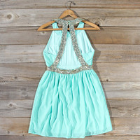 Ice Shadow Dress in Mint