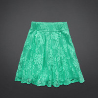 Hollister Natural Waist Lace Skater Skirt