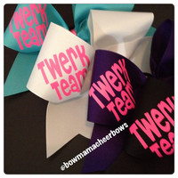 Twerk Team Cheer Bow