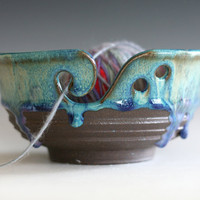 Yarn Bowl, handmade stoneware pottery,handmade ceramic yarn bowl, READY TO Ship,