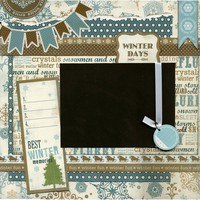 12x12 Premade Scrapbook Page - Winter Days