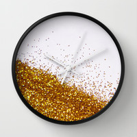 My Favorite Color II (NOT REAL GLITTER - photo) Wall Clock by Galaxy Eyes