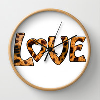 LOVE Wall Clock by catspaws