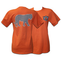 T-Shirt, Comfort Color Chevron Tiger | Auburn University Bookstore