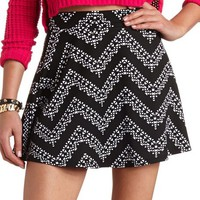 TRIBAL CHEVRON SKATER SKIRT