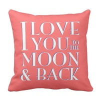 Light Red White Blue Love you to the moon & back