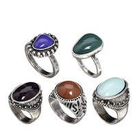 ASOS Mixed Stones Ring Pack
