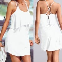 Bella-Kini Sexy White Short Beach Dress (the swimwear is not included) VB006White One Fit All Size Small-Medium