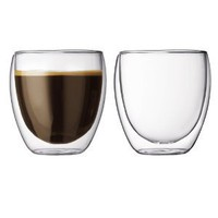 Amazon.com: Bodum Pavina 8.5-Ounce Double-Wall Thermo Tumber/DOF Glass, Set of 2: Kitchen &amp; Dining