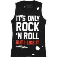 Rolling Stones It's Only Rock And Roll Destroyed Womens Tank