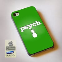 Psych Pinapple - Print on Hard Plastic, available for iPhone and Samsung Galaxy. Choose for your device