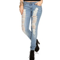 Med Denim Distressed Jeans