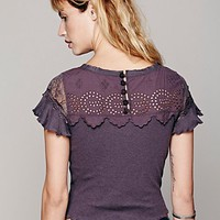 Free People Womens FP New Romantics Bees Knees Top - Slate,