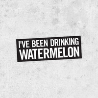 "Beyonce Lyric Sticker! ""I've been drinking watermelon"" drunk in love, jay-z, Beyoncé Knowles, crazy in love"