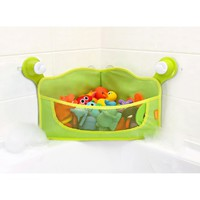 BRICA Corner Bath Basket Toy Organizer - Green