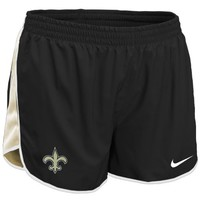 Nike New Orleans Saints Women's Tempo Performance Running Shorts - Black