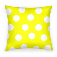 Yellow Polka Dot Pillow