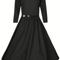 Lindy Bop Women's 'Holly' Vintage Audrey Hepburn 3/4 Sleeve Dress