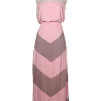 Chevron Tube Maxi Dress