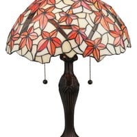 Meyda Tiffany 114388 Starfish 22 Inch Tall Tiffany Table Lamp - Mahogany Bronze