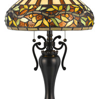 Cal BO-2356TB 28 Inch Tall Oiled Bronze Finish Tiffany Table Lighting