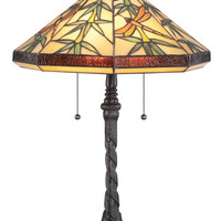 Quoizel TF6102TIB Tiffany Imperial Bronze Finish 24 Inch Tall Bedroom Table Lamp