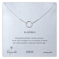 Dogeared 'Reminder - Karma' Boxed Pendant Necklace