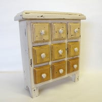 Apothecary Chest, Bead Box, Chest of Drawers, Storage Container, Shabby Chic, Cottage Chic, Rustic, Farmhouse Home Decor