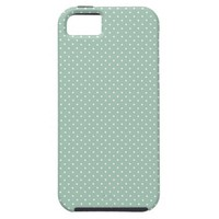 Preppy polka dot pindot mint green pattern