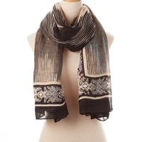 Black Multi Panama Tie All Scarf - Scarves - Shop | Theodora & Callum
