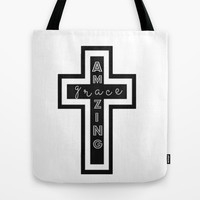 Amazing Grace Tote Bag by brookmariephotography