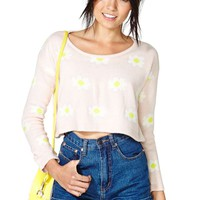 Crazy Daisy Crop Sweater