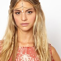 Orelia Exclusive For ASOS Tiny Teardrop Hair Crown