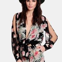 Taking Hold Floral Romper