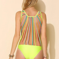 Kovey String-Back One-Piece Swimsuit - Urban Outfitters